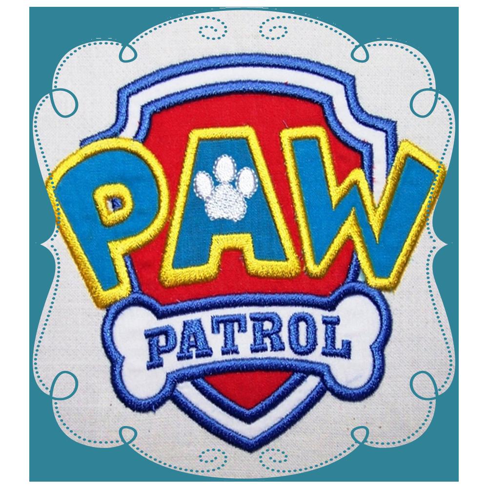 Paw Patrol Logo Applique