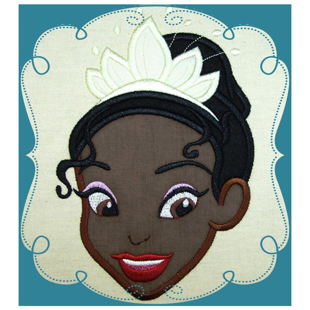 Princess Tiana Face: Princess Tiana And The Frog Applique