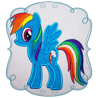 Blue Rainbow Pony