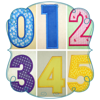Batsby Number Applique Set